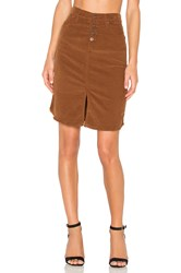 James Jeans Lana Corduroy Skirt Brown