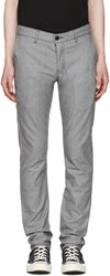 Naked And Famous Denim Grey Slim Chino Trousers