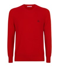 Burberry Cashmere Crew Neck Jumper Male Red