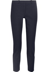 Joseph Eliston Stretch Gabardine Slim Leg Pants Navy