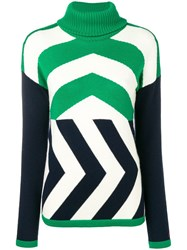 Perfect Moment Chevron Jumper Green