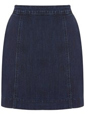 Oasis Seamed Mini Skirt Denim Indigo