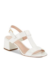 Kate Spade Patricia Leather Block Heel Sandals White