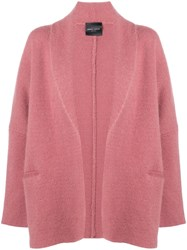 Roberto Collina Draped Fitted Coat Pink