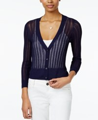 Maison Jules Ribbed Lightweight Cardigan Only At Macy's Blu Notte