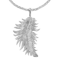 Dower And Hall Medium Feather Pendant Sterling Silver N A N A