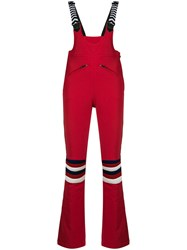 Perfect Moment Rainbow Racing Dungarees Red