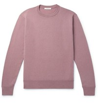 The Row Benji Slim Fit Cashmere Sweater Pink