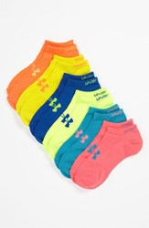 Women's Under Armour Neon No Show Socks Six Pack