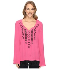 Roper 0614 Crepe Tunic Top Pink Women's Clothing