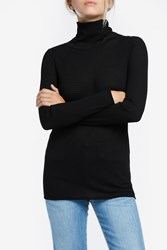 Missoni Women S Turtleneck Rib Knit Boutique1 Black