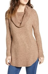 Dreamers By Debut Cowl Neck Tunic Mocha