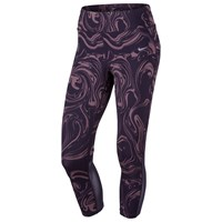 Nike Power Epic Lux Cropped Running Tights Purple Dynasty Silver