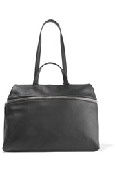 Kara Satchel Textured Leather Shoulder Bag Black
