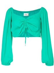 Suboo Lost City Cropped Top Green