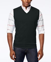 Club Room Men's Cotton Sweater Vest Only At Macy's Deep Black