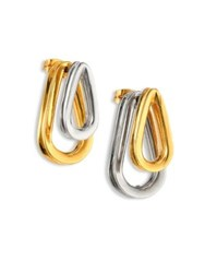 Annelise Michelson Ellipse Two Sided Earrings Gold Silver