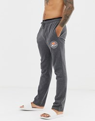 Ellesse Lounge Joggers With Logo Double Waistband In Grey