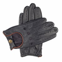 Dents Mens Classic Leather Driving Gloves Navy