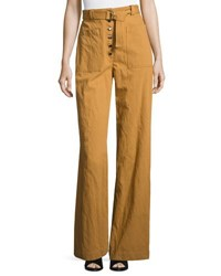 A.L.C. Trek High Waist Belted Wide Leg Pants Biscotti Cream