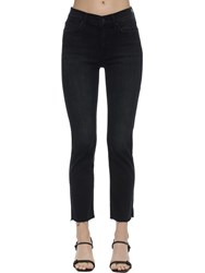 Mother The Rascal Stretch Cotton Denim Jeans Black