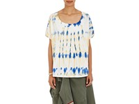 Faith Connexion Women's Tie Dye Cotton T Shirt Blue