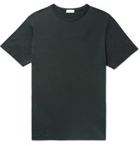 Sunspel Slim Fit Cotton Jersey T Shirt Green