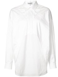Opening Ceremony Elliptical Top Women Cotton Satin 12 White