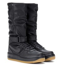 Nike Air Force 1 Upstep Warrior Leather Boots Black