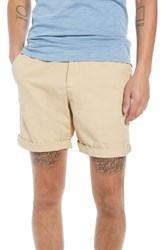 The Rail Washed Cuffed Shorts Beige Sonora