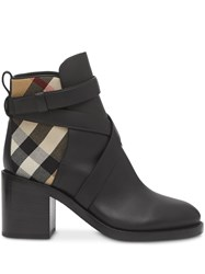 Burberry Vintage Check Panel Ankle Boots 60