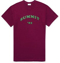 You As Printed Cotton Jersey T Shirt Burgundy
