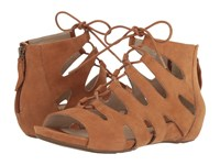 Roma Earthies Cognac Suede Women's Shoes Brown