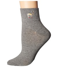 Richer Poorer Sasha Ankle Heather Grey Women's Crew Cut Socks Shoes Gray