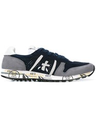 Premiata Eric Sneakers Men Leather Suede Rubber 41 Blue