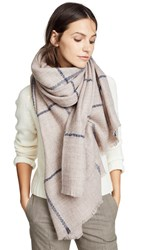 Hat Attack Box Windowpane Blanket Scarf Blush