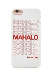 Forever 21 Mahalo Case For Iphone 6 6S 7 White Red