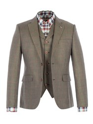 Gibson Men's Green Pick And Pick Check Jacket Green