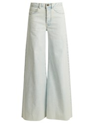 Raey Loon Wide Leg Jeans Blue White