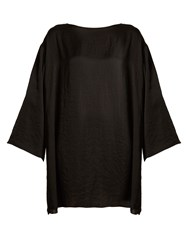 The Row Tharpe Charmeuse Tunic Dress Black