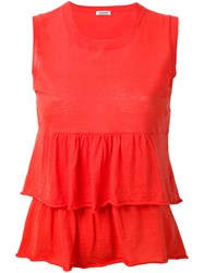 P.A.R.O.S.H. Cerise Tank Women Cotton S Red