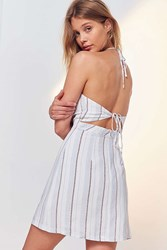 Cooperative Yarn Dyed Strappy Back Mini Dress Neutral Multi