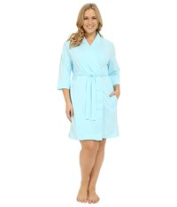 Jockey Cotton Essentials Plus Size Robe Surf Blue Women's Robe
