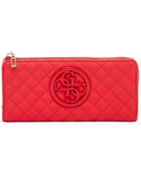 Guess G Lux Slim Zip Wallet Red