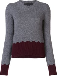 Alexander Wang V Neck Jumper Grey