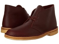 Clarks Desert Boot Burgundy Tumbled Leather Men's Lace Up Boots