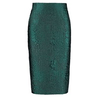 By Sun High Waist Peacock Green Pencil Skirt