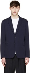 Mcq By Alexander Mcqueen Navy Cotton Blazer