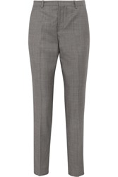 Joseph Kong Super 100 Wool Twill Straight Leg Pants Gray