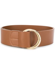Rochas Double Ring Belt Brown